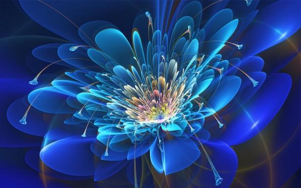 blue-fractal-flower